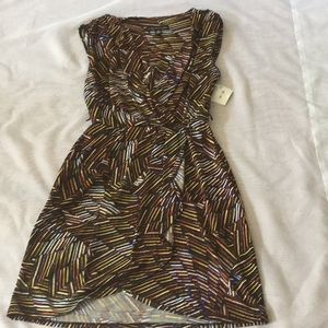 NWT City Triangles dress with multicolored pattern